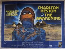 Awakening, original UK Quad Poster, Charlton Heston, Bram Stoker, 1980
